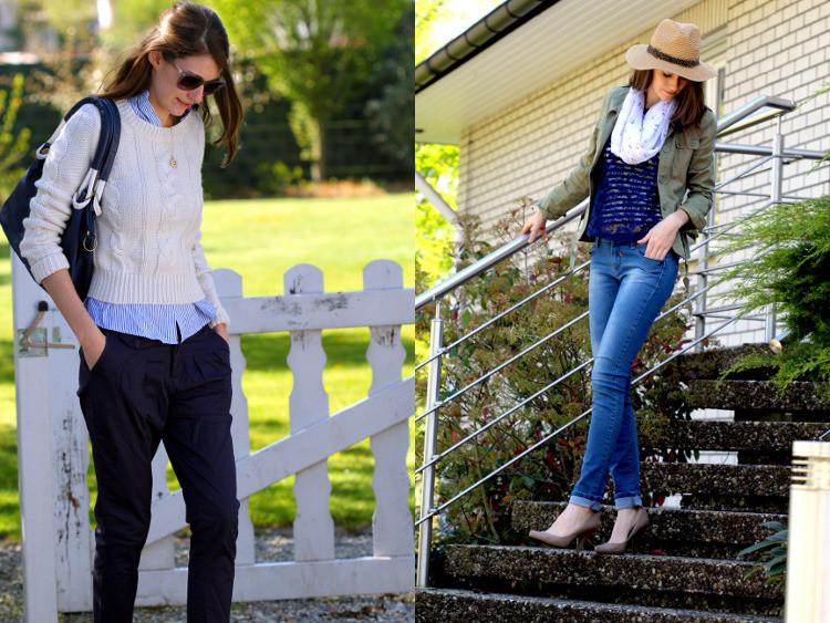 Second Hand Mode Outfits für den Frühling