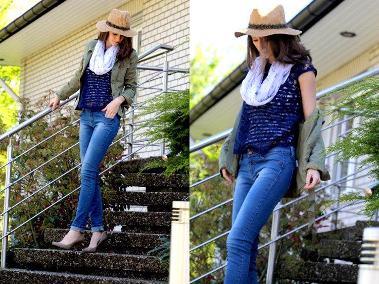 Second Hand Mode Outfit für den Frühling Freizeit Look