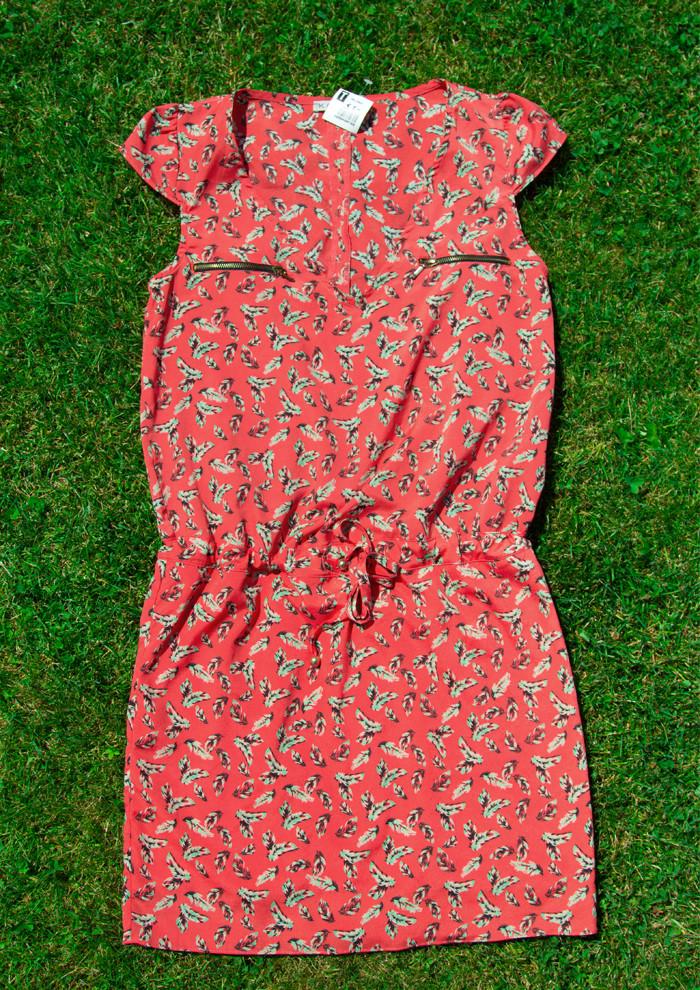 Zweite Hand Kleid m. Federn